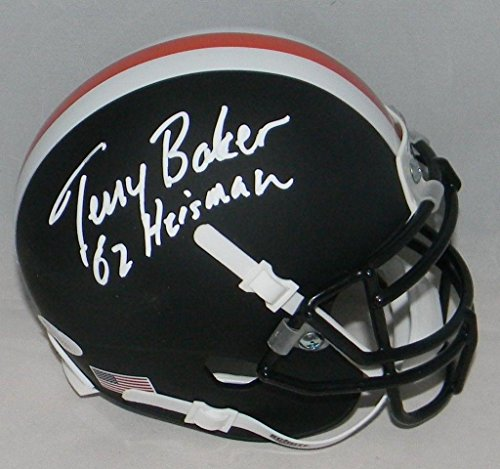 (Terry Baker Autographed Signed Oregon State Beavers Matte Black Mini Helmet - JSA Certified - Autographed College Mini Helmets)