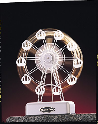 Caja de música de la rueda de la fortuna de lujo modelo de felicidad (Color: Plata)