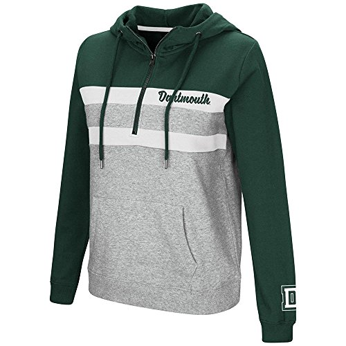 (Colosseum Womens Dartmouth Big Green Quarter Zip Pull-over Hoodie - S)