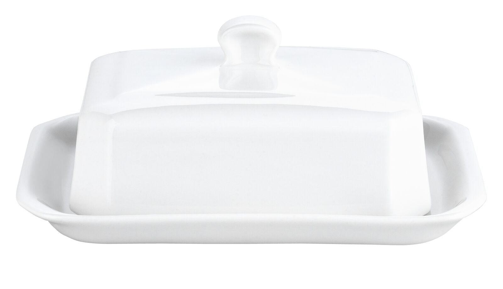 Pillivuyt Large Butter Tray with Cover, European Style