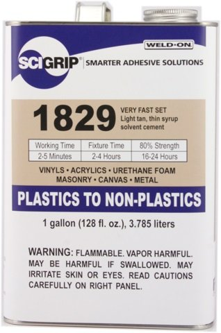 SCIGRIP Weld-On #1829 Adhesive, Gallon by Weldon (Image #2)