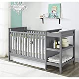 Baby Relax Emma 2-in-1 Crib and Changing Table Combo, Gray