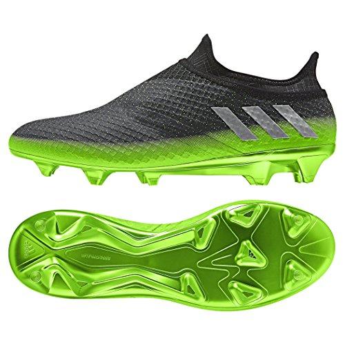 adidas Männer Fußball Messi 16+ Pureagility Firm Ground Cleats Dunkelgrau / Solargrün
