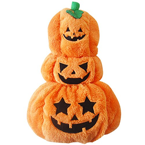S SlimArmor(TM) Cute Halloween Dog Costume Pumpkin Dog Clothes Winter Fleece Warm Puppy Coat XS-L [ S ]