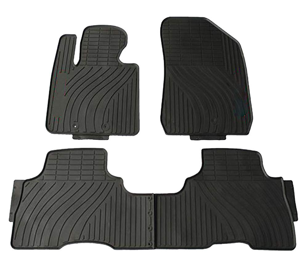 All Weather and Season Protection Car Carpet kaungka Heavy Rubber Car Front Floor Mats Compatible with 2015-2018 Kia Sorento