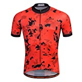 xxl mens cycling jersey - Uriah Men's Cycling Jersey Short Sleeve Reflective Pixel Red Size XXL(CN)