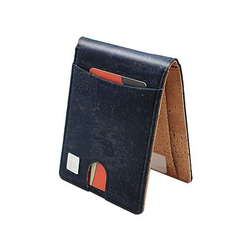 Boshiho - Cartera de Corcho con Bloqueo RFID, diseño Delgado ...