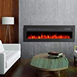 """GMHome 50"""" Wall Recessed Electric Fireplace 9"""