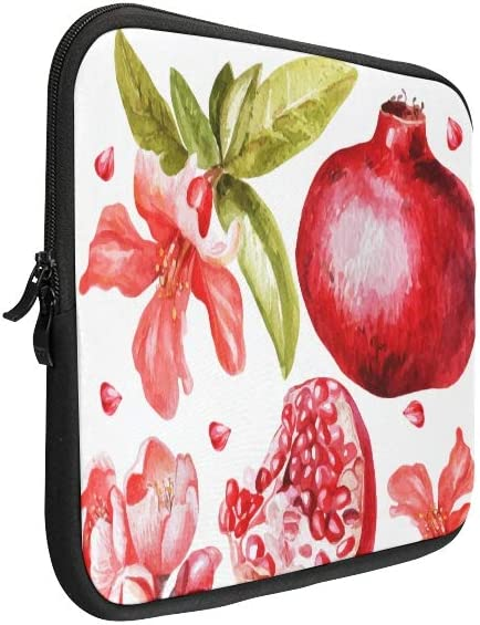 Unique Custom Durian Fruit with Leaves and Flowers Print Briefcase Laptop for Men Soft Ladies Laptop Case Briefcase Protective for MacBook Air 11