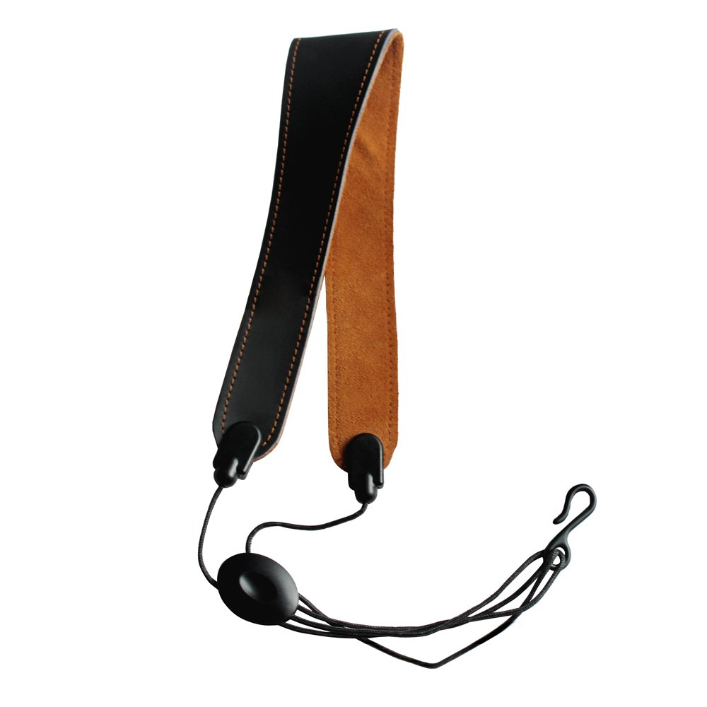 EaseIcon Elegant Leather Sax Neck Strap Adjustable Harness Belt for Tenor and Alto Saxophones, Clarinets Oboes and English Horns