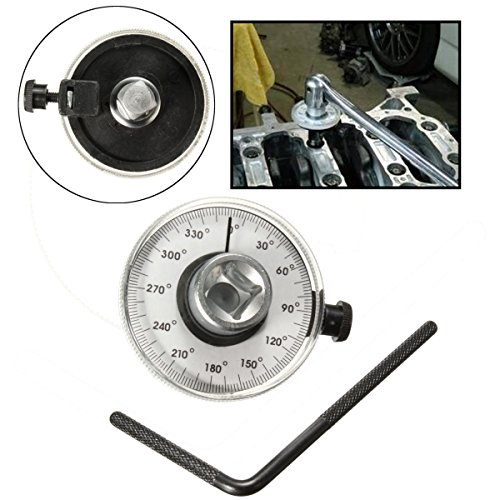 1/2 inch Drive Angle Torque Wrench Measure Car Gauge Tool Set - Dial Angle