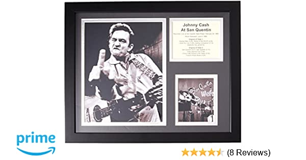 Amazon.com: Legends Never Die Johnny Cash at San Quentin Framed ...