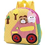 New Good Quality Canvas School Bags for Kids Small Little Baby Kindergarten Bags Animal Girl Cartoon Fabric Childrens Backpacks