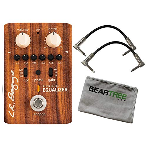 Equalizer 6 Band - LR Baggs Align Series Equalizer 6-Band EQ Acoustic Pedal Bundle w/Cables