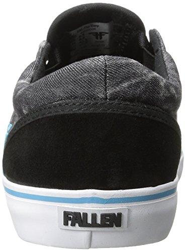 Zapatillas Fallen: The Easy Shoes Black/Acid/Island Blue BK/GR negro