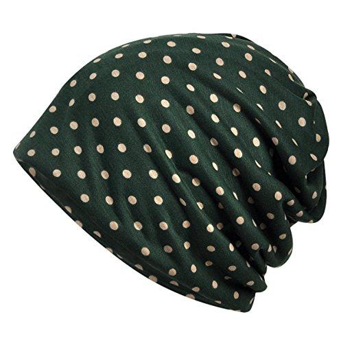 (DancMolly Print Flower Cap Lightweight Hats Beanie Stretch Casual Turbans for Women (Green))