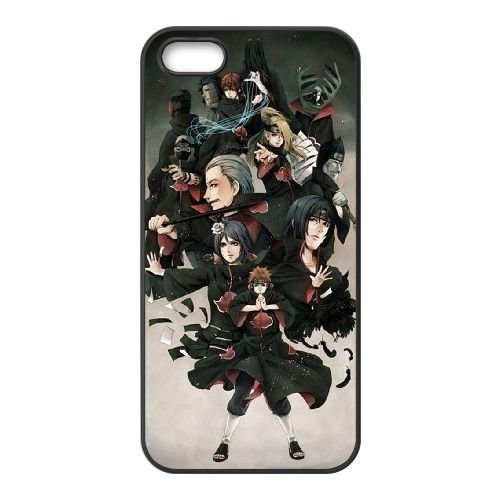 Naruto 007 coque iPhone 5 5S Housse téléphone Noir de couverture de cas coque EOKXLKNBC21943