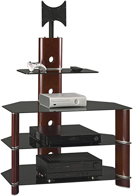 amazoncom bush furniture segments collection 37 inch bedroom tv stand with mount kitchen dining - Corner Flat Panel Tv Stands
