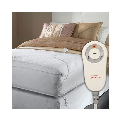 Bed Foot Warmer - Sunbeam Foot Cuddler Queen/King Heated Mattress Pad