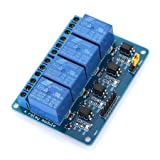 DZS Elec 4 Channel 5V Relay Module with Optical Coupler Protection Expansion Board