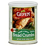 Gefen Breadcrumbs, Flavored, 15-Ounce (Pack of 6)