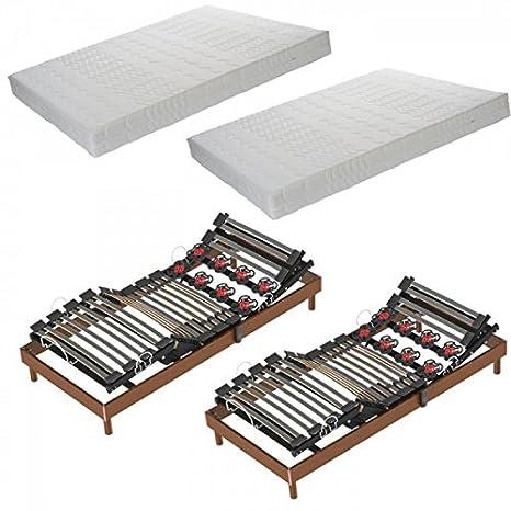 Armorel Conjunto eléctrica, 70 x 190 mm, colchones, Relaxlatteplus Classic muelles Relax Latex y contactos: Amazon.es: Hogar