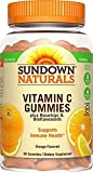 Sundown Naturals Vitamin C Gummies, 90 Count Bottle (Pack of 12)
