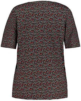 Ulla Popken damska koszulka w dużych rozmiarach, z nadrukiem w kształcie serca, t-shirt o linii A: Ulla Popken: Odzież