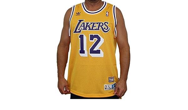b3a649551c96 ... Amazon.com Vlade Divac Los Angeles Lakers Adidas NBA Throwback Swingman  Jersey - Gold Books ...