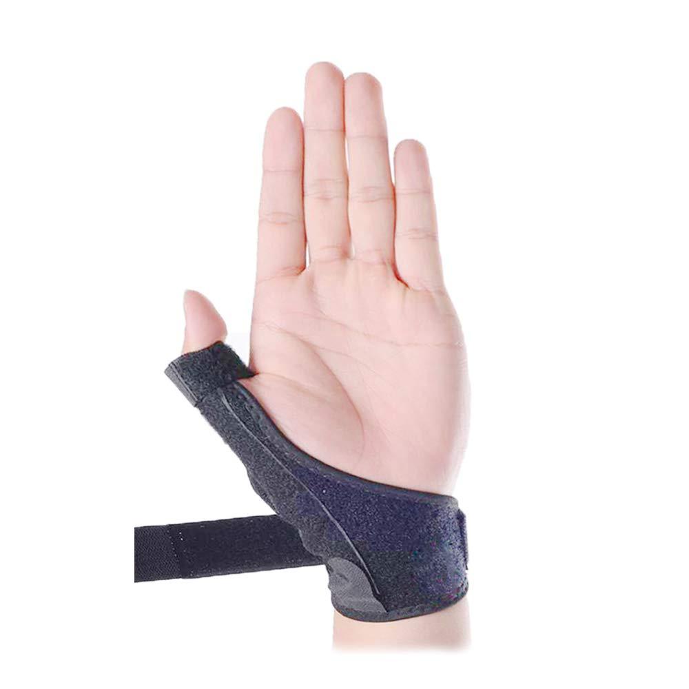 Thumb Splint, Thumb Wrist Brace Adjustable Neoprene Splint for Arthritis Tendonitis Sprained Thumb Symptoms Broken Hyperextended Thumb - One Size Fits Most (Right)