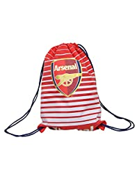 Arsenal FC Official Fade Football Crest Drawstring Sports/Gym Bag (One Size) (Red/White)