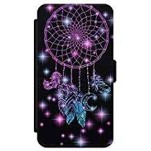 iPhone 6 Case, iPhone 6s Case Midnight Dream Catcher Phone Case by Casechimp® | Premium Leather Flip Wallet Card Holder Slots | Lotus Dream Catcher Dormeo Teepee Love