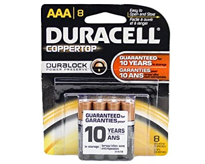 Duracell Duralock - Made in the USA - AAA - 8 Pack - Original RETAIL PACKAGING