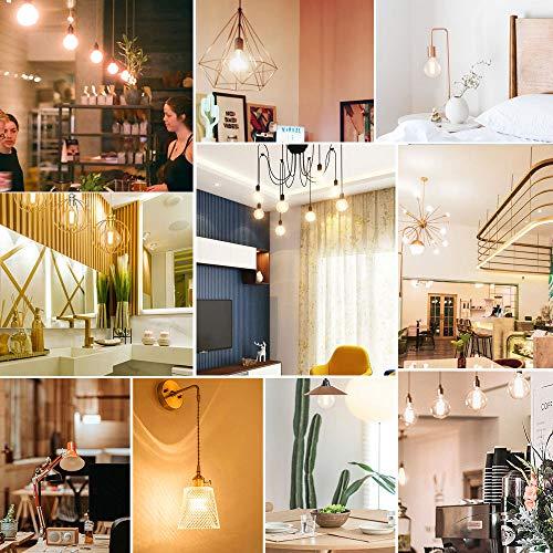 G25 LED Globe Light Bulbs, Dimmable Edison Light Bulbs 100W Equivalent, 1200 Lumens, 10W E26 Base Vanity Light Bulb with Warm White 2700K for Home Reading Room Bathroom, 4-Pack