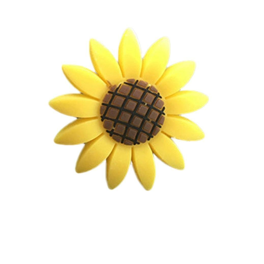 Wetietir Car Sunflower Air Perfume Clip Outlet Fragrant Flower Air Freshener Clip(Yellow)