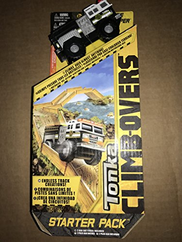 Tonka CLIMB-OVER STATER SET Climbovers Black Fire Stomper Truck Toy with Tracks