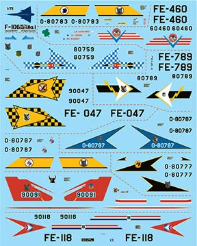 Fundekals 1/72 Decals for Convair F-106 Delta Dart for sale  Delivered anywhere in USA