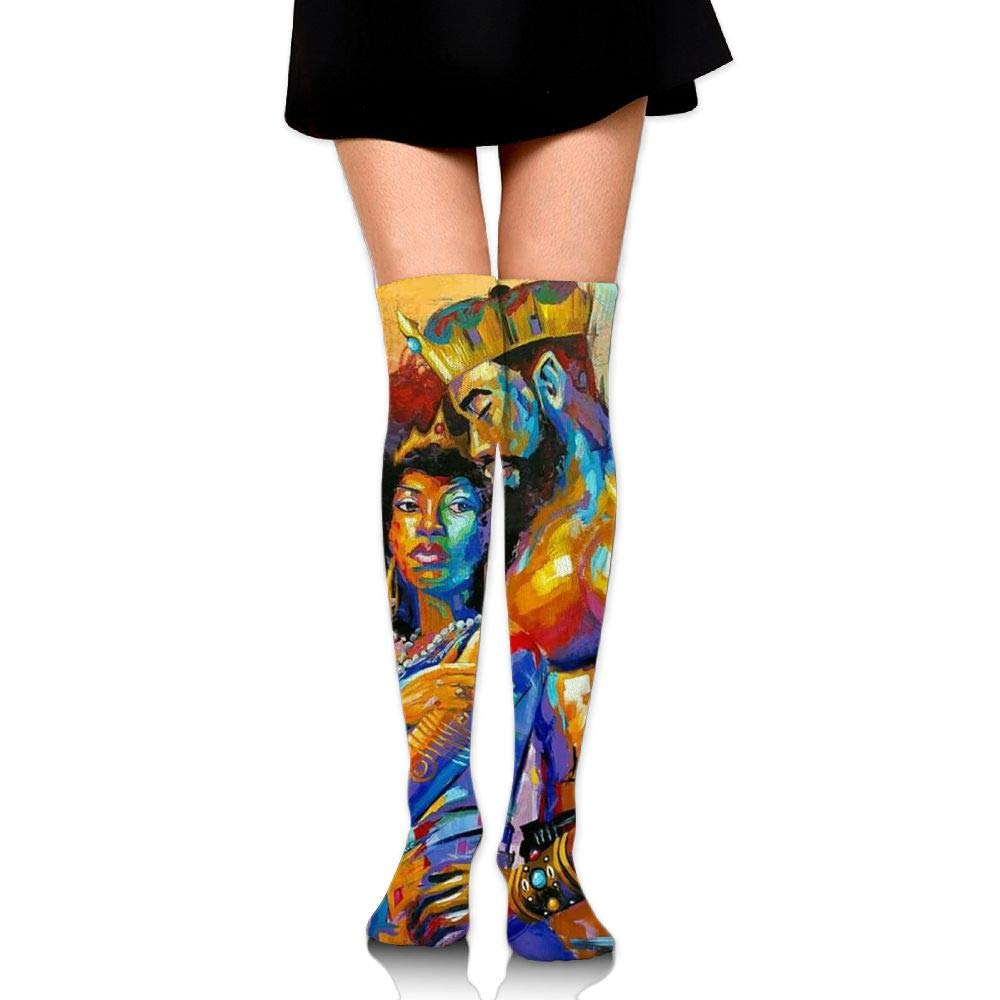 Womens African American Lovers Couple Sexy Long Socks Over The Knee High Boot Socks Cosplay Socks