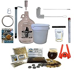 HomeBrewStuff 1 Gallon Table Top Nano-Brewery Beginner Equipment Kit With Recipe Kit (Chocolate milk Stout with Booster)