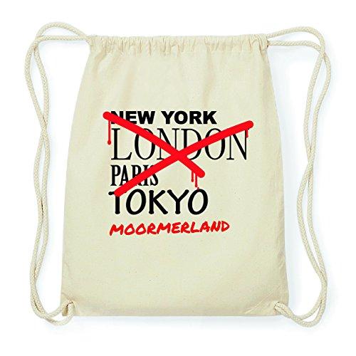 JOllify MOORMERLAND Hipster Turnbeutel Tasche Rucksack aus Baumwolle - Farbe: natur Design: Grafitti