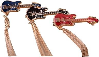 3 piezas retro guitarra traje camisa suéter collar cadena broche ...