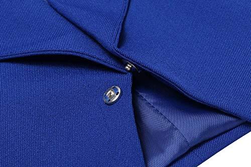Maglia Classiche Cerniera Blazer Con Solidi Colori Giacca Autunno Manica Moda Lunga Di Ragazzi A Donna Outerwear Marineblau Laterali Business Giaccone Elegante Tasche Bavero CTx4w5xq
