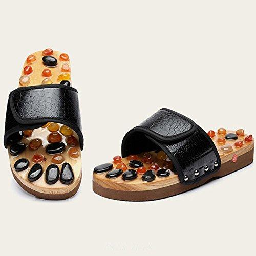de de HHORD Zapatillas Zapatos Masaje Masaje pies de Piedra acupresión de de de 39 ágata Natural vwtwH4