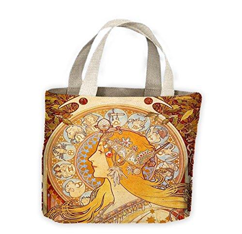 Alphonse Mucha Mucha Shopping Life Bag Tote Zodiac Alphonse For ggqSr