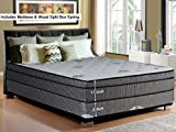 """Product review for Continental Sleep Fifth Ave Collection, Fully Assembled  Mattress Set With 13"""" Soft Euro Top Orthopedic King Mattress and 8"""" Split Box Spring"""