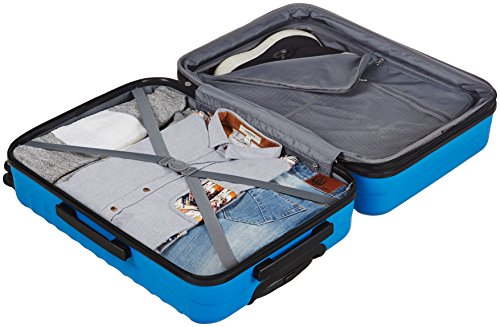 AmazonBasics Hardside Spinner Travel Luggage Suitcase - 24 Inch, Blue