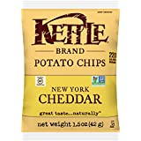Kettle Brand Potato Chips, New York Cheddar, Single-Serve 1.5 Ounce (Pack of 24)
