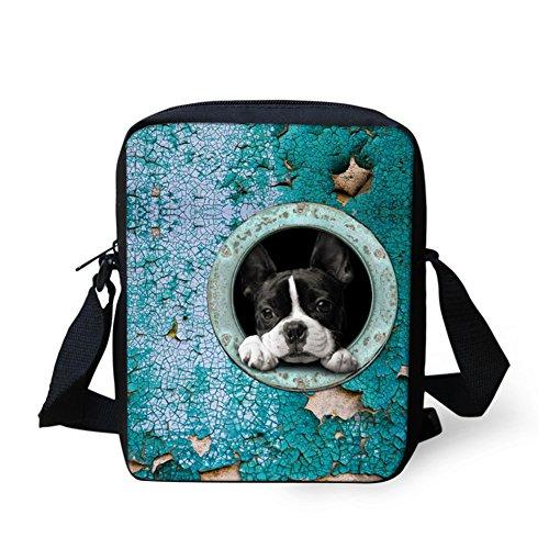 HUGSIDEA - Casual donna Cute Boston Terrier