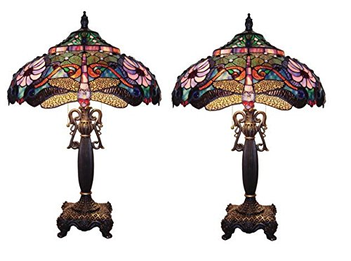 921 Glasses (Dragonfly Tiffany Style Stained Glass Table Lamp)