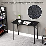 Coavas Simple Computer-Desk Gaming Desk, Small Desk, Home Office Desk with Metal Legs for Students Adult Wooden Study…
